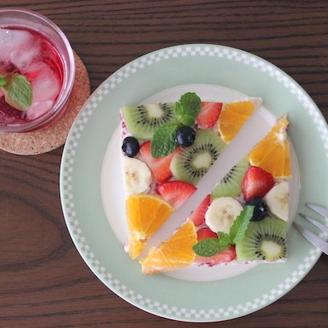 簡単♪チーズケーキ風フルーツオープンサンド