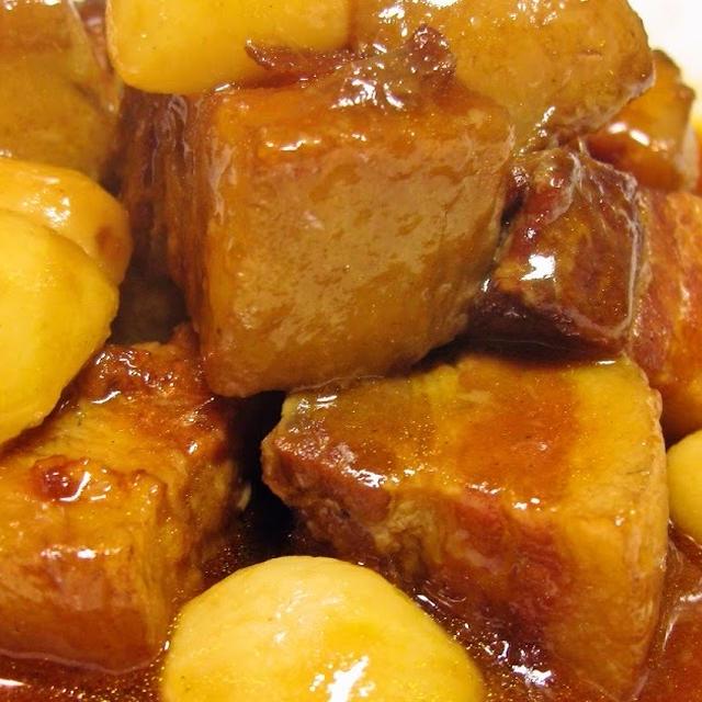 豚バラ肉とニンニクのピリ辛醤油煮