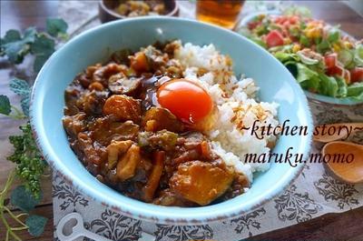卵が濃厚!おすすめTKG★野菜たっぷりチキンカレー(普通だと思っていたカレーの食べ方!?)