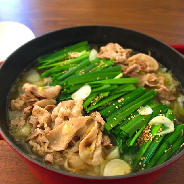 野菜たっぷりモツ鍋風豚バラ鍋
