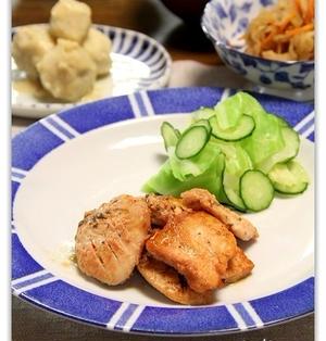 鶏むね肉のケチャップはちみつ漬け焼き