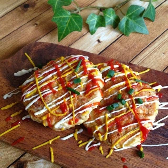 ヘルシー*豆腐と豚こま肉の焼きナゲット