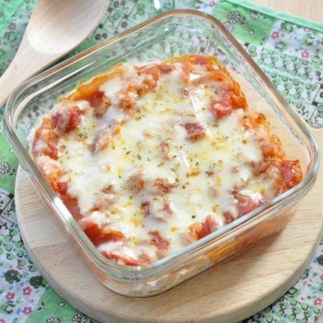 【10分節約弁当】なんと手軽な、かけて焼くだけ!トマトチキンライスのリメイク弁当