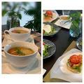 ハンバーガーのお供に新玉ネギの丸ごとスープ〜ラベンダーがいっぱい by pentaさん