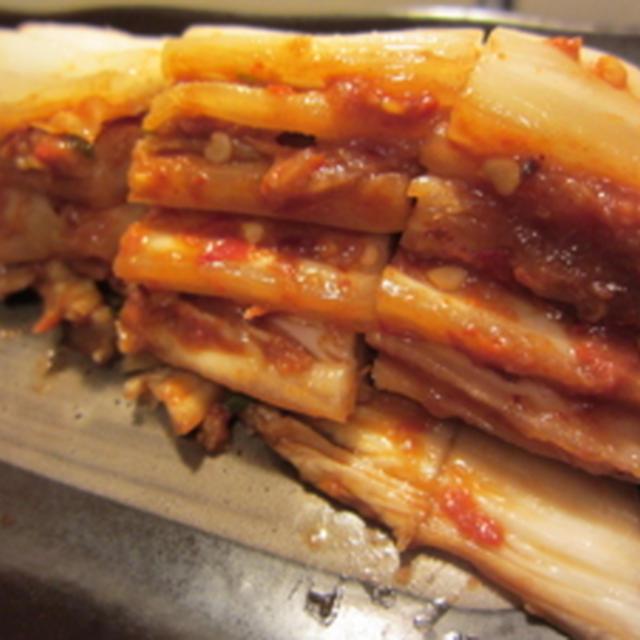 [料理(NYで日本食っぽく)] 本気で作る☆本格キムチいよいよ漬けます!