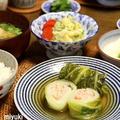 和風、鶏ひき肉でロール白菜。小さなおかずいろいろ。
