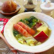 たっぷりの生姜と根菜で作る、寒さ撃退ぽかぽかスープ♪