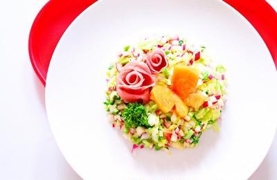 【動画】生ハムのバラとポテトサラダの作り方レシピ・かわいいおもてなし料理