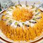 簡単スポンジでかぼちゃのモンブランケーキの作り方