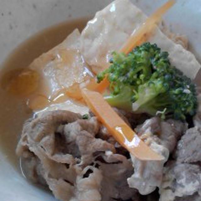 『竹本油脂さんごま油たっぷり肉豆腐』