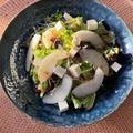 梨のサラダ/里芋とヒイカの煮物