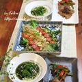 ◆菜の花の青のりソースと炊飯器鶏ハムの棒棒鶏サラダ~緩やか糖質制限中 by fellowさん