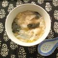 鶏挽き肉でワンタンスープ