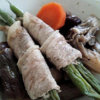 いんげんの肉巻き煮