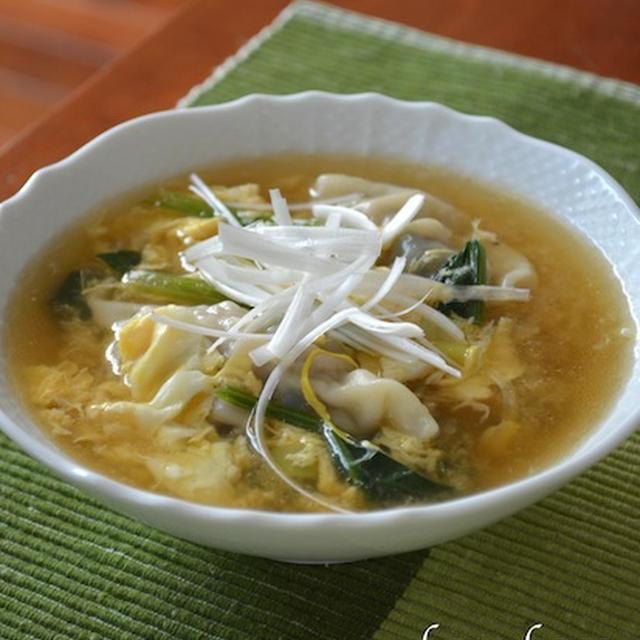 胃に優しい餃子スープ☆