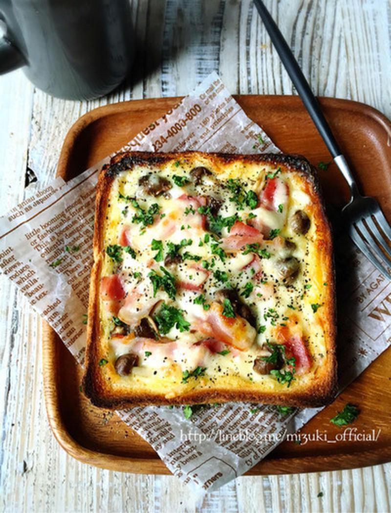 簡単&お手軽♪食パンなどで作る「パンキッシュ」レシピ