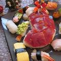 赤いクリスマスブーツ寿司♪