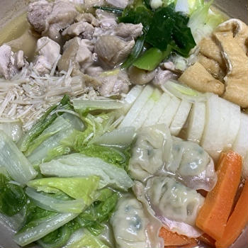 温まる鶏だしが美味しい塩味鍋