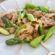 【スパイス大使】牛肉とアスパラのカレー炒め