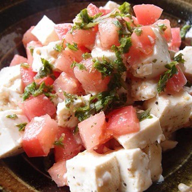 豆腐とトマトのごまサラダ