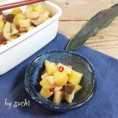 【作り置き】エリンギとポテトのピリ辛炒め♡