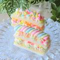マシュマロバナナクリームサンドイッチケーキ