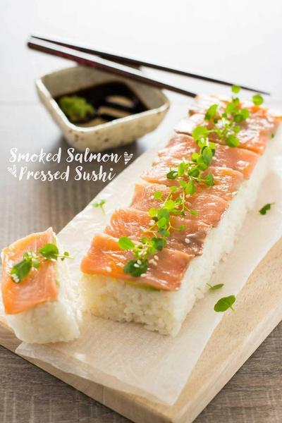 Pressed Sushi with Smoked Salmon