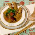 なんだか嬉しいお知らせ♥と手羽元とさつまいもの豆乳こっくり煮と(卵、バター不使用)マフィン by naoguriさん