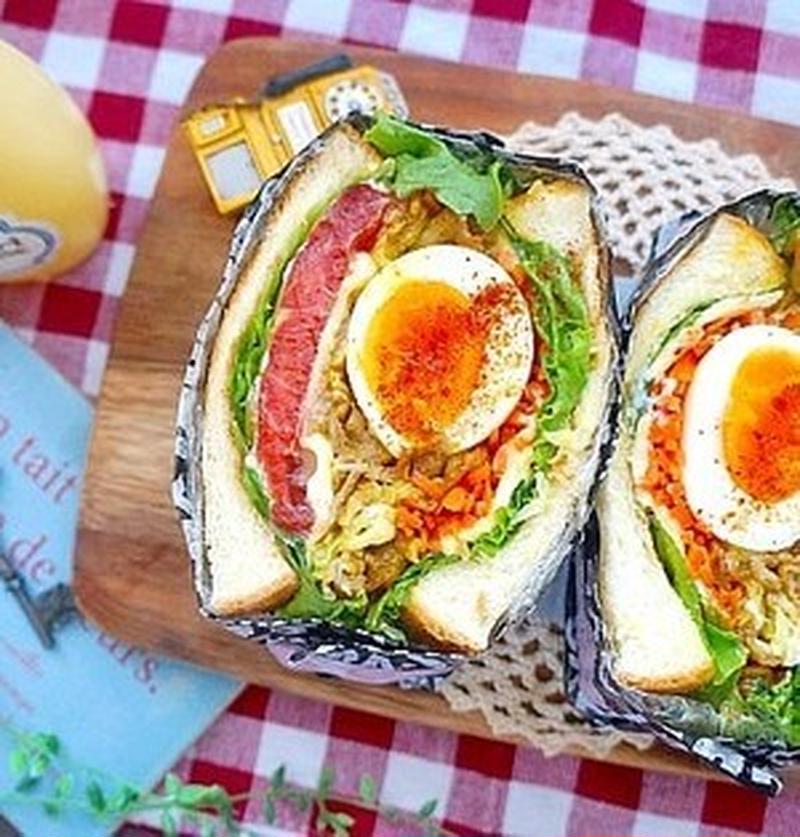 マネしてみたい!「ゆで卵」の萌え断サンドレシピ