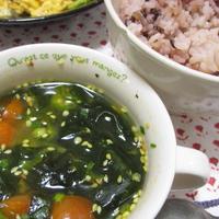 *ご飯にかけても美味しい・簡単カレーわかめスープ