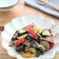 【#ぐんまクッキングアンバサダー】ごはんがすすむ!夏野菜と豚肉の黒ごま醤油ガーリック
