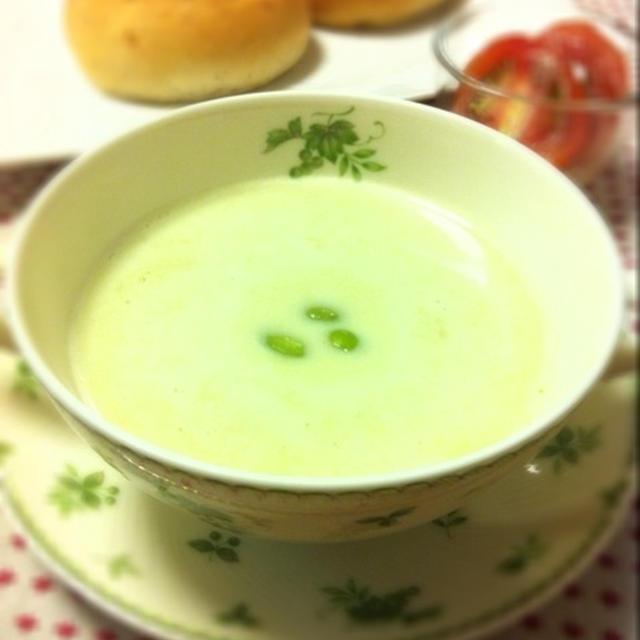 枝豆とじゃがいものポタージュスープ