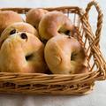 自家製酵母のレーズンベーグル【パン作り、りんご酵母、国産小麦、ゆめちからブレンド】
