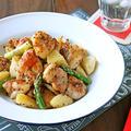 フライパンでパパッと簡単!鶏肉とポテトのマスタードマヨ炒め♪連載更新