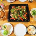 手羽元のアジアンぎゅうぎゅう焼き・クレソン入りのアジアン玉子サラダと6月13日のお弁当