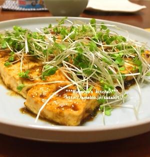 *【recipe】豆腐の海苔佃煮バター焼き*
