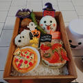食パンでピザ〖おままごと弁当*ハロウィン〗&ダイソーで買ったハロウィンお弁当グッツ by とまとママさん