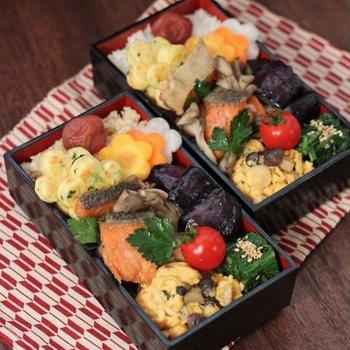 鮭と舞茸のエスカベッシュ ✿ チキンとひよこ豆のスパイシーカレー(๑¯﹃¯๑)♪
