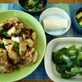 青梗菜のクリーム煮 ~ 蒸し鶏 ~ XO醤風万能ソース