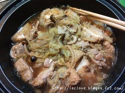 鶏肉と白菜の甘辛煮
