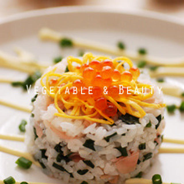 甘酢しょうがのちらし寿司