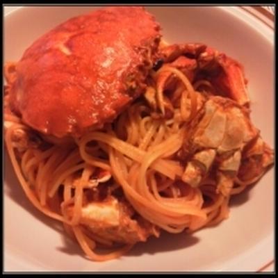 ヘラガニのスパゲッティ