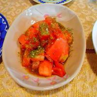 トマトのスパイスマリネ