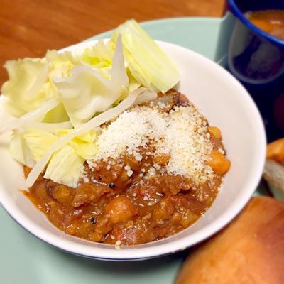 ☆挽肉と豆のカレー