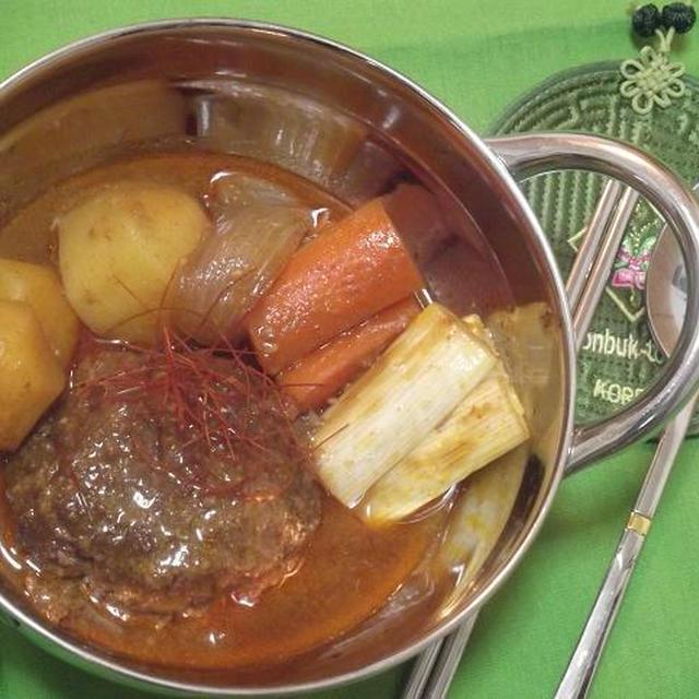 韓国風★煮込みハンバーグ