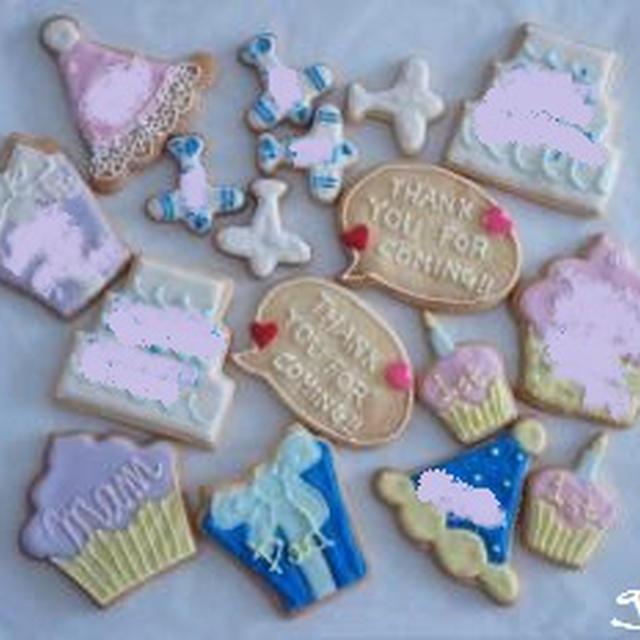 ちびちゃん1歳の誕生日パーティーアイシングクッキー
