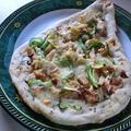 ナンをベースにお手製ピザ