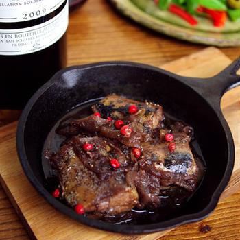 9月 秋刀魚の赤ワイン&肝ソース煮込み♪