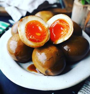 味卵レシピ色々~❤️と、週末の乾杯レシピにも♪ソースカレー味卵❤️
