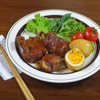 ほろほろ~♪やみつき豚肉スペアリブの甘辛醤油煮込み